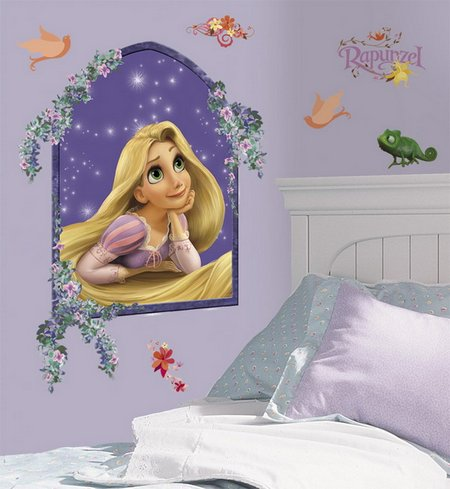 Princess Rapunzel Wall Murals Good Looking