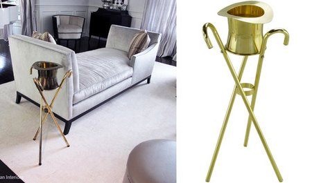 brass-gold-chanpagne-cooler-hat-cane-table