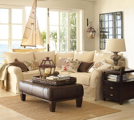 Vintage Living Room With Pottery Barn Furniture