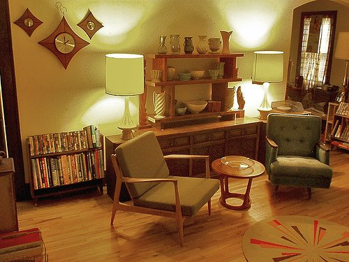 living rooms in retro style - www.nicespace