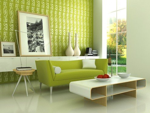 green color in home decorating - www.nicespace