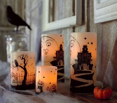halloween pbk candles