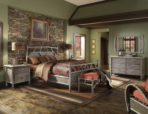 Bedrooms with stone wall decoration - Camera stile country ...