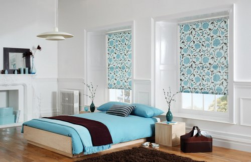 Blackout Bedroom Blinds bedroom – blackout blinds for night effects  www.nicespace