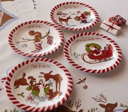 Christmas plates pottery