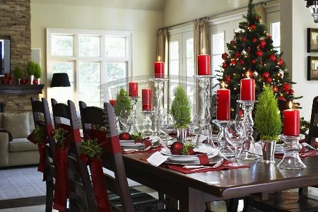 Christmas Dining Room Decor Ideas - www.