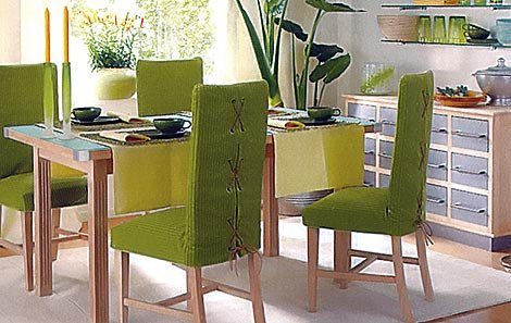 dining room furniture: new look with dining chair slipcover - www