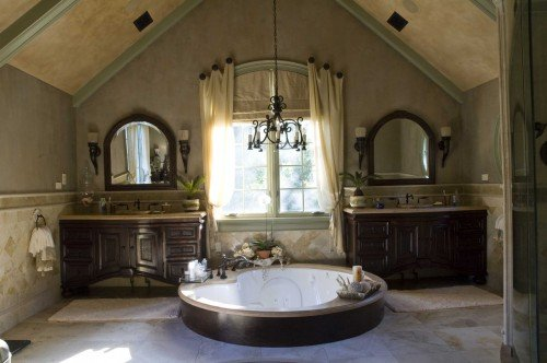 Tuscan style bathroom lavish tub tuscan sun pinterest Tuscan style bathroom ideas