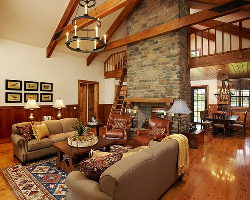 lodge decorating with a rustic theme