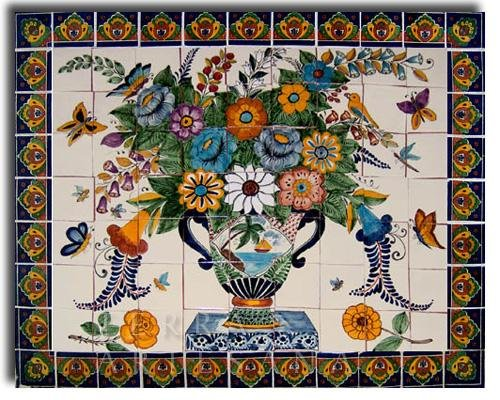 Mexican Talavera Ceramic Mural Tile