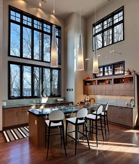 Kitchen With Tall Ceiling Remodeling Tips