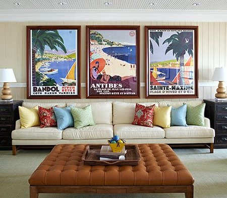 Retro Travel Posters In Interior Design - www.nicespace.me