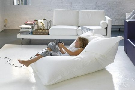 whether hard at work or play this giant bean bag will supplement you with added  fort whatever it is you find yourself doing  modern living room bean bags   www nicespace me  rh   nicespace me