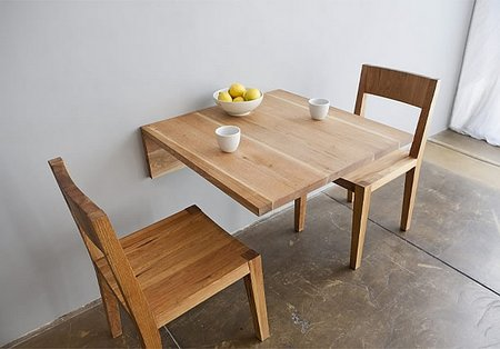 Dining sets for small spaces - Wall mounted tables for small spaces set ...