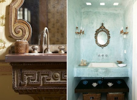 The eclectic home for Greek style bathroom design
