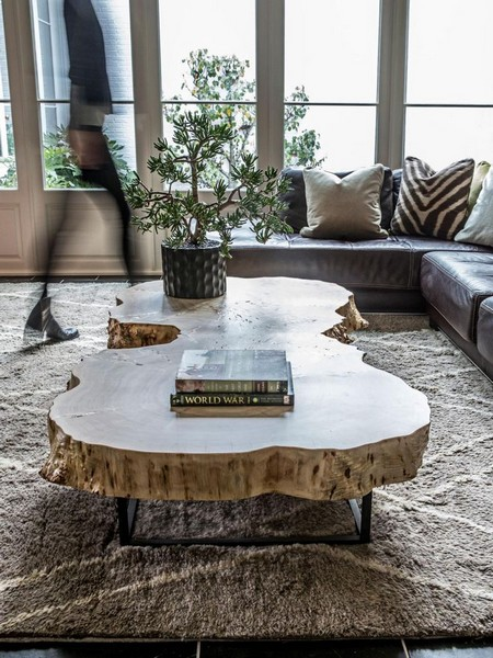 A trend in branch bottomed tables is to finish the rustic table with a  contemporary glass top  The glass serves two purposes  One  the beautiful  natural. Rustic Style Furniture In Contemporary Homes   www nicespace me