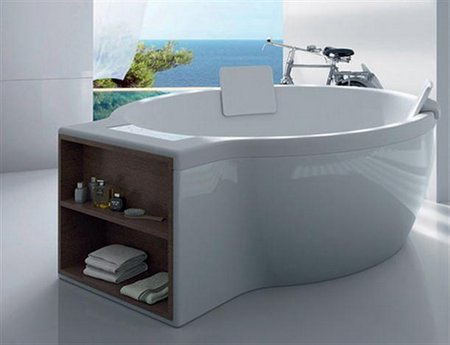 Pictures-of-Modern-and-Elegant-Circular-Bathtub-Design-by-Roca
