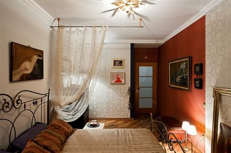 Another-view-of-master-bedroom-at-Modern-and-Cozy-Small-Apartment-Design-with-Retro-Style