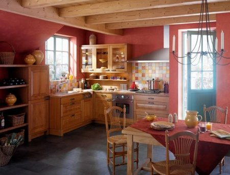 classy-red-and-brown-french-kitchen-decor