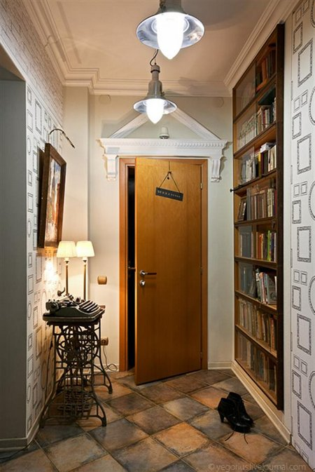 Door-at-Modern-and-Cozy-Small-Apartment-Design-with-Retro-Style