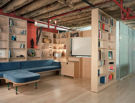 Pretty-Contemporary-Basement-Design-Furniture