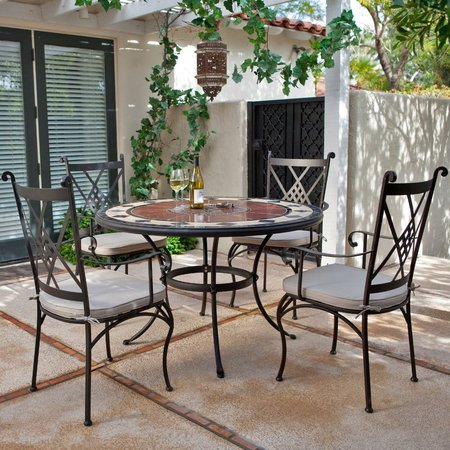 Luxury-Round-Mosaic-Dining-Set-Patio-Furniture
