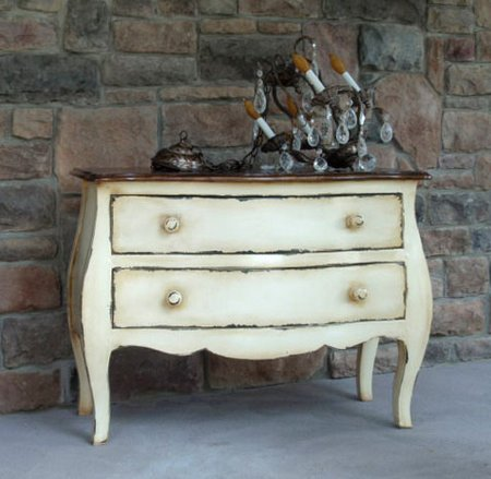 how to make new furniture look vintage