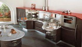 Modern And Curved Kitchen Collections by Snaidero