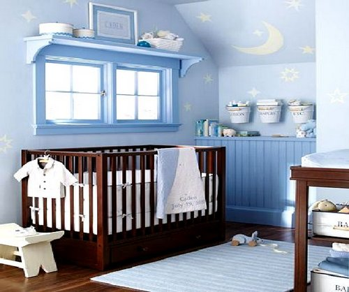 space saving ideas for small nursery 14326 | small spaces nursery baby room design