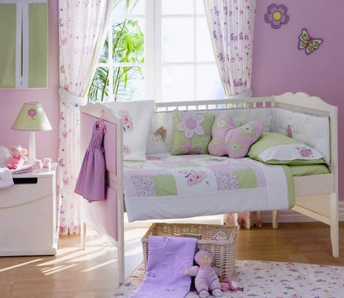 Butterfly-and-Flower-Nursery-Themed-Bedroom