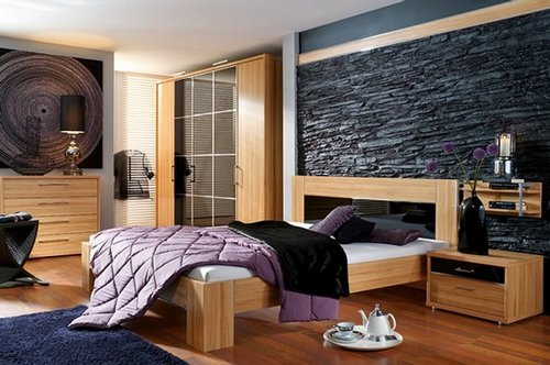 Modern-Bedroom-Interior-Designs-with-Stone-Wall-Decoration-1