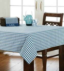 VH Soldier Blue Check table cloth
