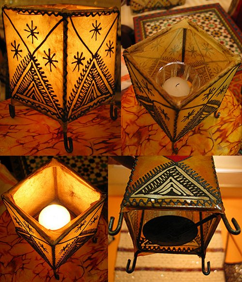 henna moroccan lamps