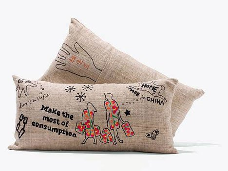 homemade in china cushions fairtrade designers