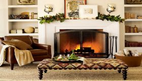 Elegant Country Living – Winter By The Fireplace
