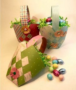 Easter home decor you can revamp simple easter baskets by decorating them with raffia bows and acrylic craft paint these handcrafted baskets will be a joy to receive negle Gallery