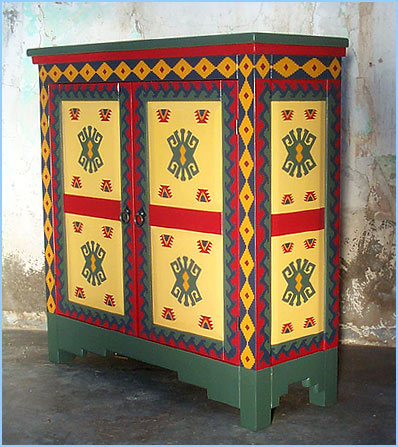 Antique Mexican Painted Furniture