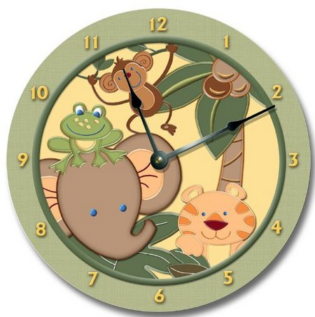 jungle-wall-clock
