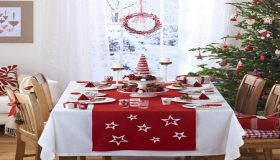Christmas Table In Lavish Colors