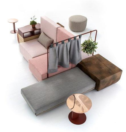 Modular sofa designed for Moroso