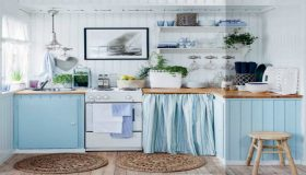 Blue Color Is A Good Choice For Your Kitchen