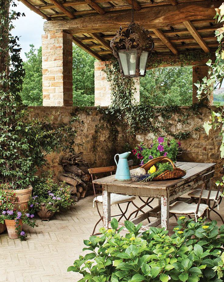 Patio Design In Tuscan Style Www